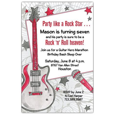 party   rock star invitations paperstyle