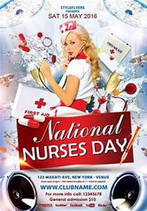 free red party flyer psd template styleflyercom club With nurses week flyer templates