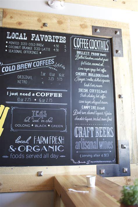Modern coffee menu template free vector. Off Site Mural or Chalk Painting. Coffee Shops. Restaurants. Corporate Branding… | Coffee shop ...