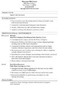 resume exles for master students resume sle master cake decorator