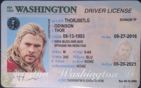 Washington (wa) Drivers License