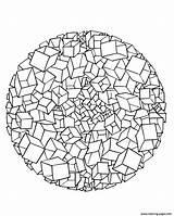 Coloring 3d Pages Printable Mandala Print Popular Cubes sketch template