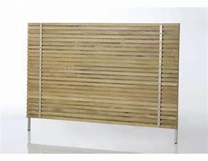Lit 180 Cm : t te de lit bois 180 cm contemporaine marque amadeus ~ Teatrodelosmanantiales.com Idées de Décoration