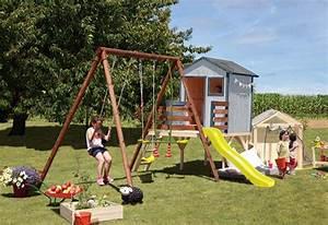 Aire De Jeux Soulet : cabane enfant en bois portique int gr lynda soulet ~ Melissatoandfro.com Idées de Décoration