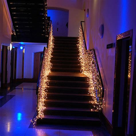 led waterfall light icicle stripe window curtain fairy