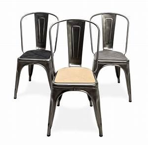 Tissu Pour Chaise : galette d 39 assise tissu pour chaise a et fauteuil a56 tissu anthracite tolix made in design ~ Teatrodelosmanantiales.com Idées de Décoration