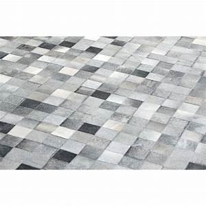tapis en camaieu de gristapis cuir de vache cousu main With tapis cuir gris