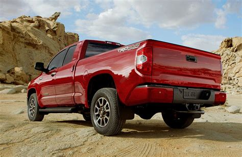 red  toyota tundra limited  trd  road package