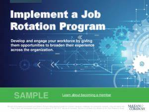 Implement a job rotation program mclean company for Job rotation program template