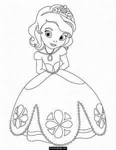 Disney Princess Coloring Pages For Kids - Coloring Page Art