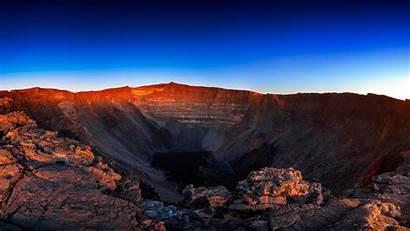 Volcano Sky Dusk Crater