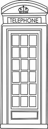 Telephone Booth Box Clipart Phone Digi Coloring Fringe Crafts Drawing London British Beyond Digital Door English Beyondthefringecrafts Repinned Stamp Clipground sketch template
