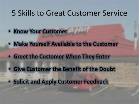 Definition Of Great Customer Service Skills by Ppt Pizza Hut Powerpoint Presentation Id 1852436