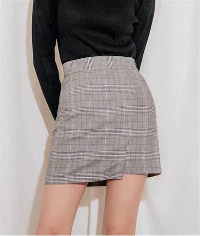 Skirt Mini Quick Hem Mixxmix English Check