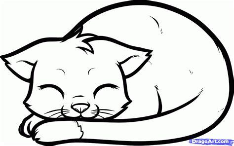 draw  sleeping cat sleeping cat step  step