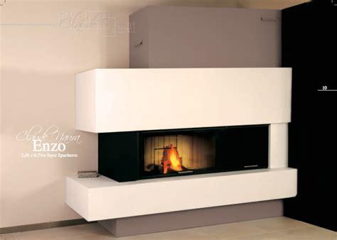 poele a bois cuisine cheminée contemporaine moderne à foyer fermé cheminées et