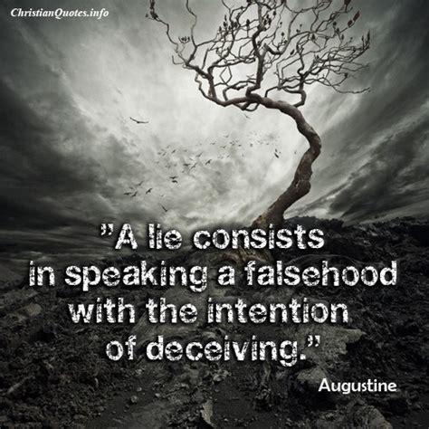 augustine quote speaking  falsehood christianquotesinfo