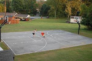 The measurements of his court is 30' x 50' full court with