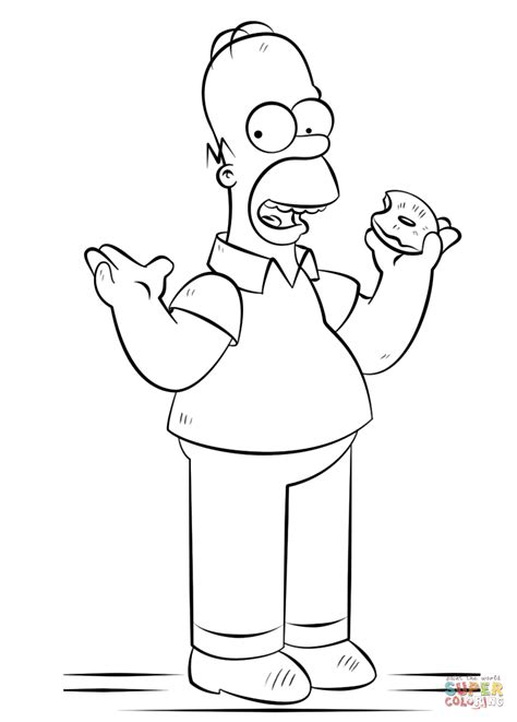 De Simpsons Kleurplaten by Homer Coloring Page Free Printable Coloring Pages