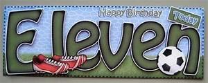 11th Birthday Football Large Dl Quick Card N 3D Decoupage ...