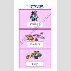 Toys Flashcards  Esl Worksheet By Pacchy