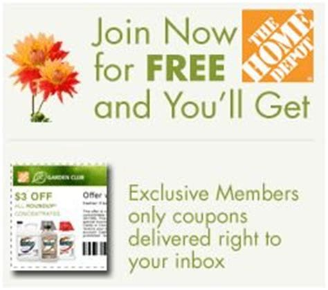 join home depot s garden club get 5 coupon