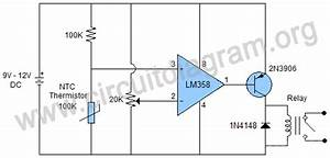Heat Sensor Using Lm358 Ic