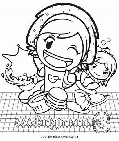 Mama Cooking Coloring Sheets Yo Disegno Template