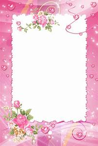 Pink PNG Photo Frame with Roses | Wallpapers and more ...