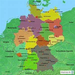 Schönsten Städte Deutschland : stepmap deutschland st dte landkarte f r deutschland ~ Frokenaadalensverden.com Haus und Dekorationen