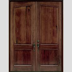 Front Door Custom  Double  Solid Wood With American