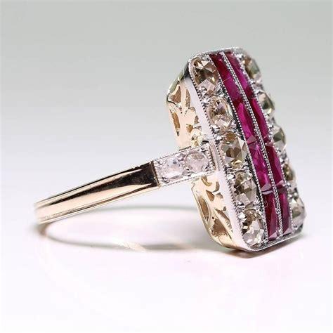 ruby  diamond ring  sale  stdibs