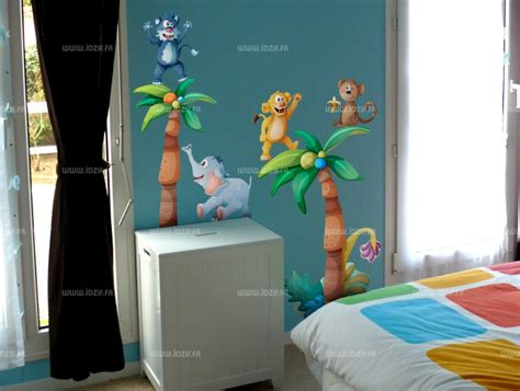 déco jungle chambre bébé decoration chambre bebe animaux jungle
