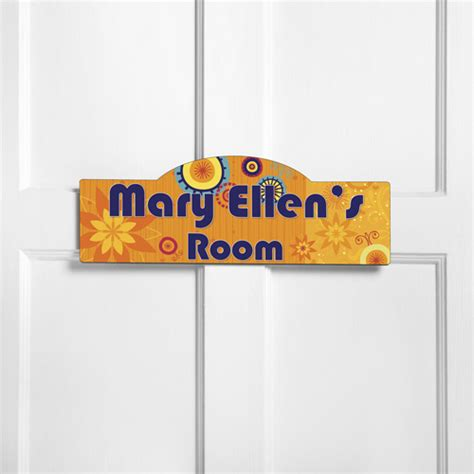 Personalized Kids Room Sign Sunny Day, Personalized Room Signs