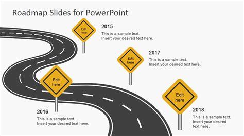 roadmap   powerpoint slidemodel