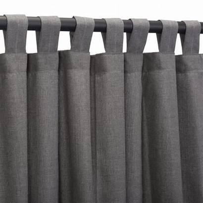Tab Curtain Outdoor Sunbrella Panel Slate Curtains