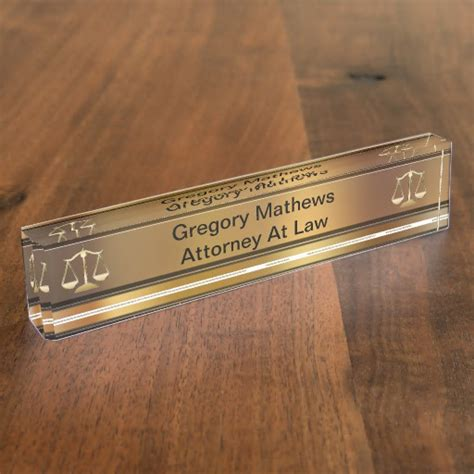 Desk Name Plates by Attorney Executive Desk Name Plates Zazzle