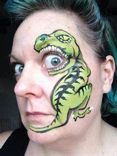 kinderschminken vir gesicht kinderschminken dinosaurier painting