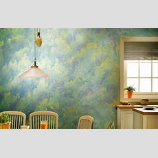 Wall Painting Ideas, Textures & Stencils In Images
