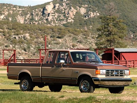 70s Ford Truck Wallpaper by 1987 Ford F 150 Supercab Wallpaper 2048x1536