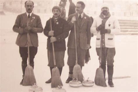 Photo Chamonix, 1924 Curling L'équipe de France Olympique ...