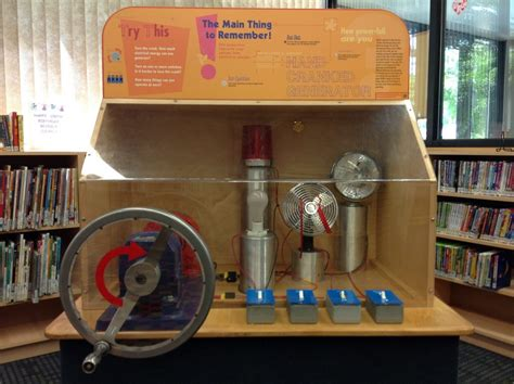 hand cranked generator display manchester district library