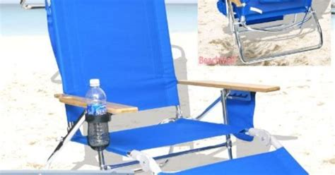 deluxe 3 in 1 beach chair lounger w drink holder and