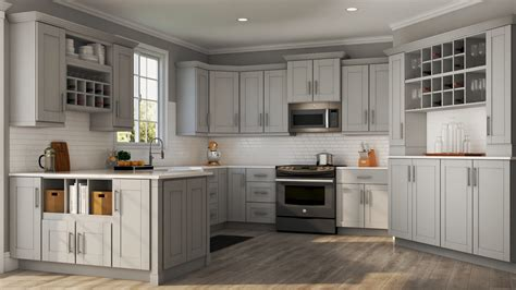 shaker specialty cabinets  dove gray kitchen
