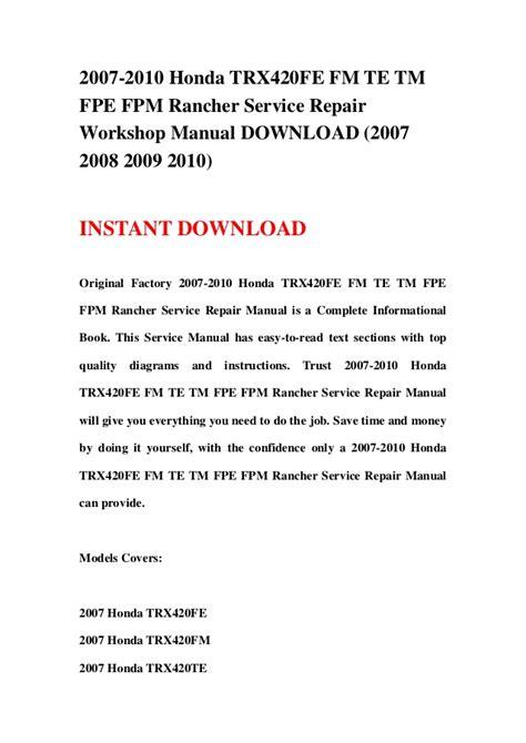 service repair manual free download 2008 honda odyssey electronic toll collection 2007 2010 honda trx420fe fm te tm fpe fpm rancher service repair work