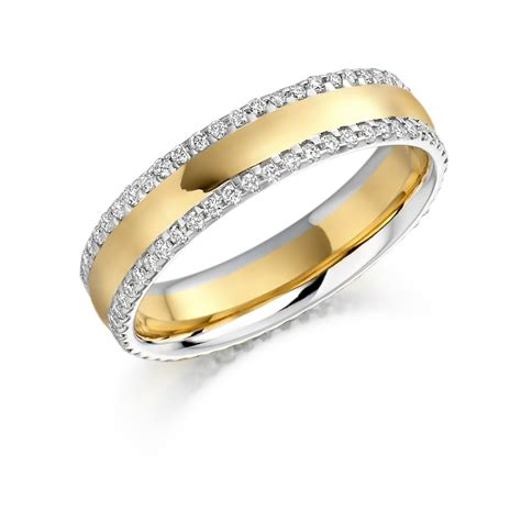 raphael two tone wedding band michael lynes specialist independent jewellers