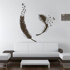 Birds of Feather Wall Decals Vinyl Decal Housewares Art Vinyl wall Sticker home Decor wall art