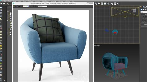 dsmax model comfortable chair quickly youtube