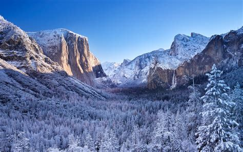 4k Wallpaper by Yosemite National Park Winter 4k Wallpapers Hd
