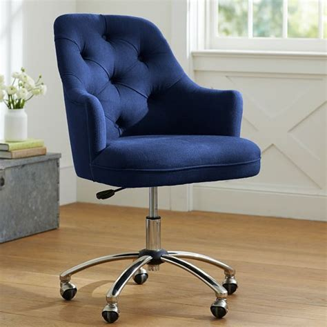 tufted swivel desk chair twill tufted desk chair dark dark blue and colors